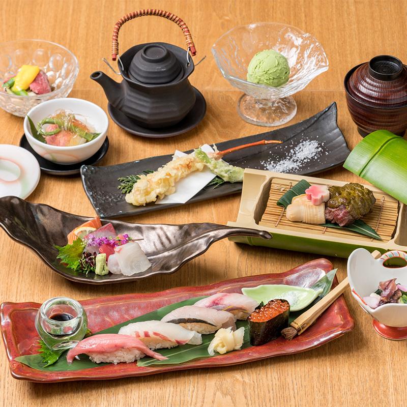 【お昼の御宴会に】鮨・美食 -びしょく- コース お料理のみ 6,900円(税込) → 5,900円(税込)